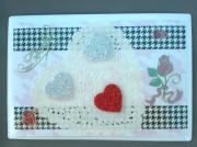 """deco design autres coeur love magnet decoration : Plaque """"love"""" PM 7"""