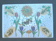 """deco design fleurs magnet deco fleur galerie creation sandrine chasseigne : Plaque """"florale"""" PM 3"""