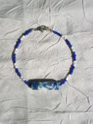 bijoux bleu verre perles bracelet : Bracelet en perles de verre BV 28