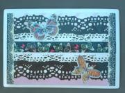 """deco design animaux papillon decoration magnet dentelle : Plaque """"dentelle et papillons"""" PM 9"""