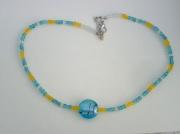 bijoux collier perles de verre bijou fantaisie creation de bijoux : collier d'été en verre CV 27