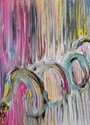 tableau abstrait : Serpent de couleurs