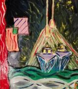 tableau abstrait : Croisière de nuit