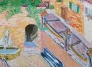 tableau paysages : Village du Midi