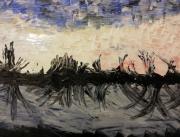 tableau abstrait : Paysage de Bourgogne