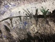 tableau abstrait : Paysage de Bourgogne 1