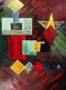 tableau abstrait : Tapis de couleurs