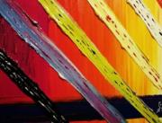 tableau abstrait : Rayonnement de couleurs