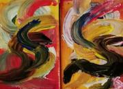 tableau abstrait : Danse flamenco 1