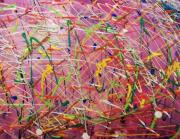 tableau abstrait : Nébuleuse de couleurs 1