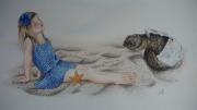 dessin personnages animaux etoile bleu soleil : Espérance
