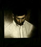 tableau personnages personne noir portrait clairobscur : Vers le bas