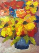 tableau fleurs peintures fleurs : sans titre