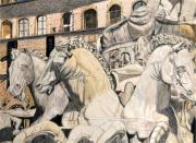 dessin architecture florence piazza della signoria dessin crayon : Fontaine de Neptune - Piazza della Signoria (place de la Seigneu