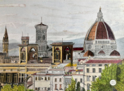dessin architecture florence italie dessin crayons : Florence