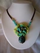bijoux autres collier soie pierre bijou : collier en soie