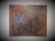 tableau abstrait : Lac montagne