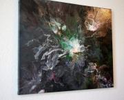 tableau abstrait : Perle ascendante