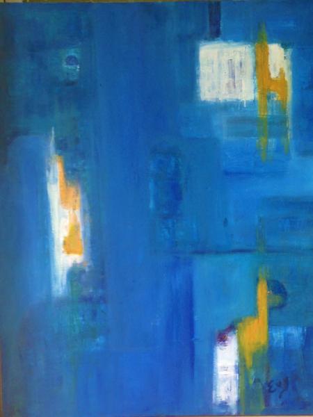 TABLEAU PEINTURE Peinture a l'huile  - SPIRIT BLUE
