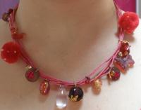 Collier multi-cordons 'Eclosion' en perles & brelo