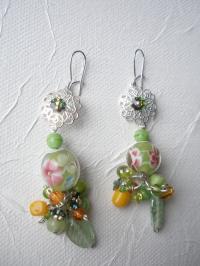 Boucles d'oreilles 'TuttiFrutti' en verre