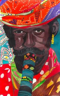 Portrait d'un musicien Indien
