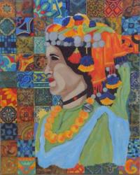 Portrait d'une Berbère aux zelliges