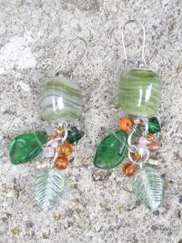 Boucles d'oreilles 'Fruits d'été' en verre