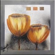 tableau fleurs tableau contemporain fleurs tulipe : TULIPES