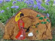 bois marqueterie : LE JARDIN JAPONAIS