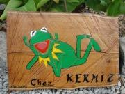 bois marqueterie animaux deco gravure : Chez  KERMIT