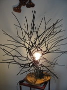 bois marqueterie autres lampe salon eclairage : LAMPE DE SALON(EURIOPS)