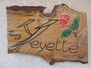 """bois marqueterie : """" chez  YEYETTE """""""