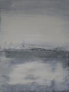 tableau paysages noir et blanc gris paysage contemporain : sweet painting in love