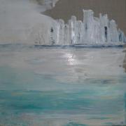 tableau paysages mer eau ville bord de mer : le jour d'apres