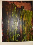 tableau abstrait building moderne jaune apocalypse : apocalypse