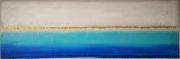tableau abstrait tableau abstrait bleu : Blue paradise