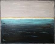 tableau abstrait tableau abstrait bleu : Stormy