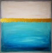 tableau abstrait tableau abstrait bleu : Antalya