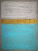 tableau abstrait tableau abstrait bleu : caribbean