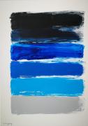 tableau abstrait tableau abstrait bleu : Blue symphony