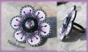 bijoux nature morte fleur bague : Bague Violetine