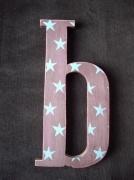 artisanat dart lettre b etoile : lettre décorée
