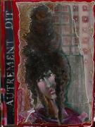 tableau personnages portrait collage poupee matiere : Autrement dit