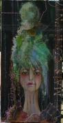 tableau personnages portrait femme cheveux poupee : Mais comment