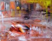 tableau paysages abstrait : SOUS LES PONTS