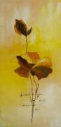tableau fleurs jaune blanc rouge moderne : fleur douceur