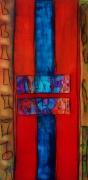 tableau abstrait bleu moderne tableau beige : abstrait N° 15