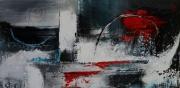 tableau abstrait rouge noir tableau acrylique : abstrait 20