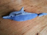 art textile mode animaux animal jean s d : dauphin en jean's